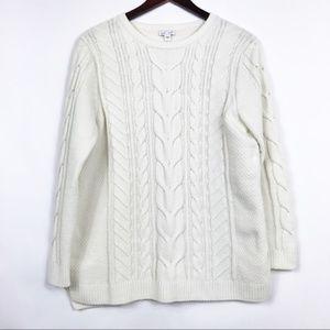 J. Jill Womens Size Small Sweater Beige Soft Cozy